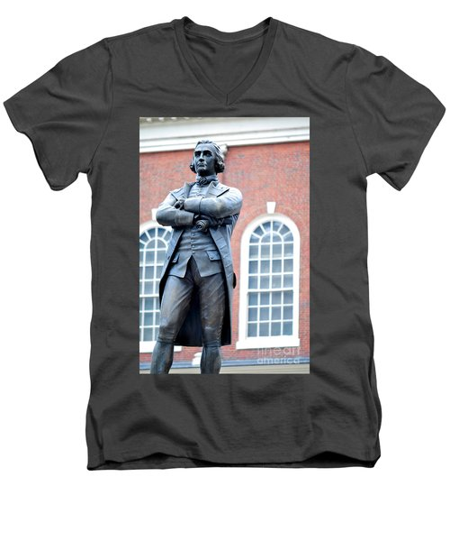 Samuel Adams Statue Massachusetts State House Men's V-Neck T-Shirt