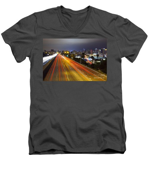 San Diego Skyline Men's V-Neck T-Shirt