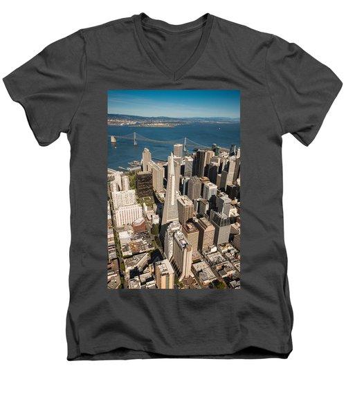 San Francisco Aloft Men's V-Neck T-Shirt