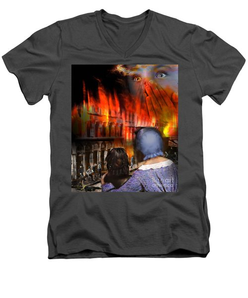 San Francisco Fire Men's V-Neck T-Shirt