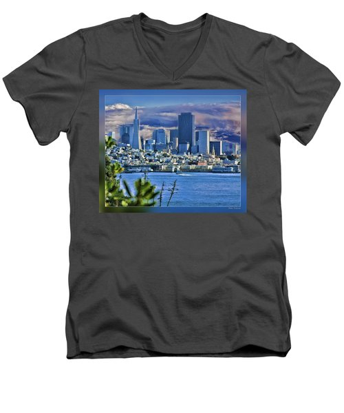 San Francisco From Alcatraz Men's V-Neck T-Shirt