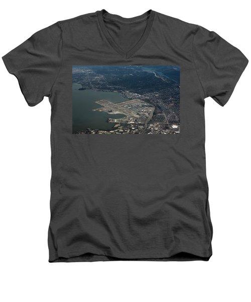 San Francisco International Airport Men's V-Neck T-Shirt