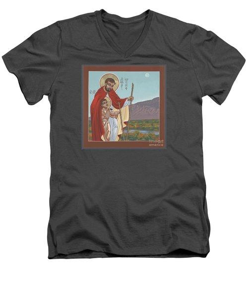 San Jose En El Rio Grande 268 Men's V-Neck T-Shirt by William Hart McNichols