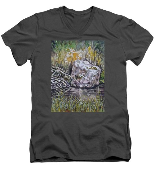 San Poil River Rock Men's V-Neck T-Shirt
