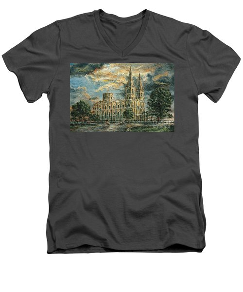 San Sebastian Church 1800s Men's V-Neck T-Shirt by Joey Agbayani