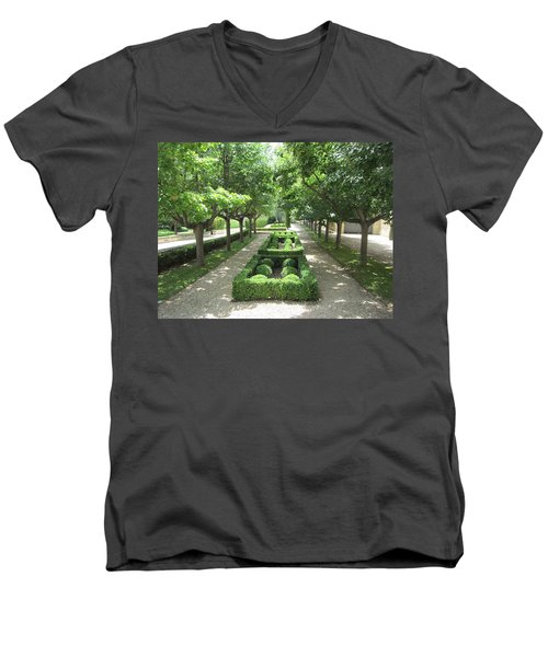Men's V-Neck T-Shirt featuring the photograph Sanctuary by Pema Hou
