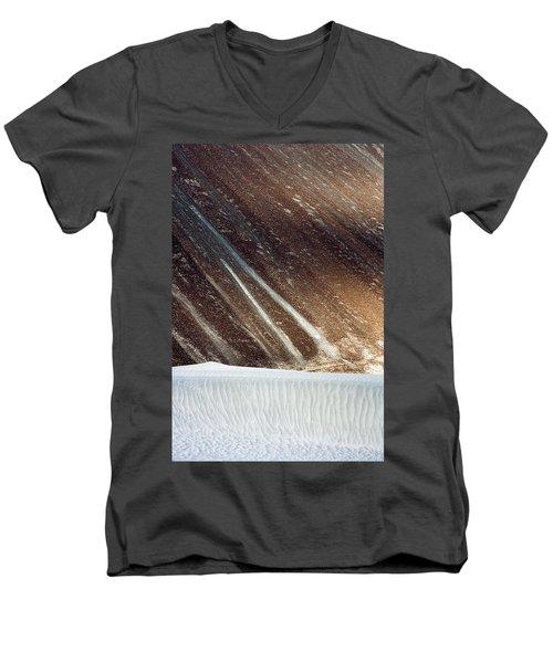 Sand Abstract, Hunder, 2006 Men's V-Neck T-Shirt