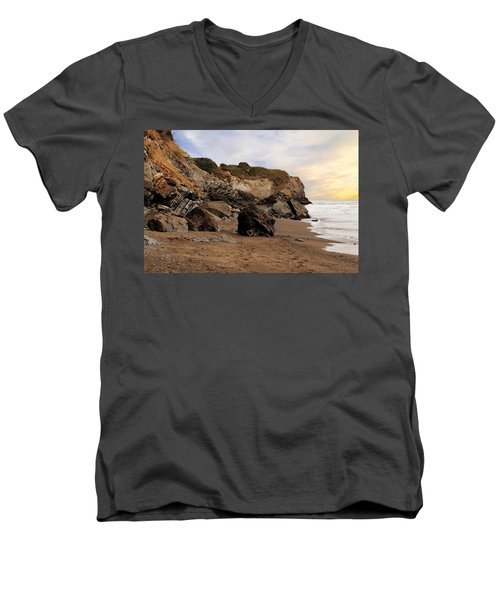 Sand And Rocks Men's V-Neck T-Shirt