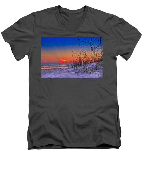 Sand And Sea Men's V-Neck T-Shirt by Marvin Spates