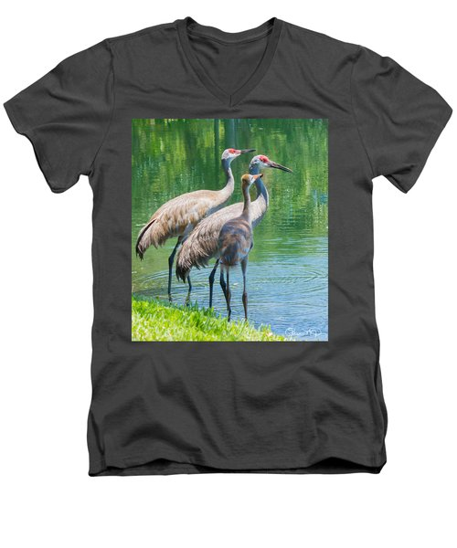 Mom Look What I Caught Men's V-Neck T-Shirt by Susan Molnar