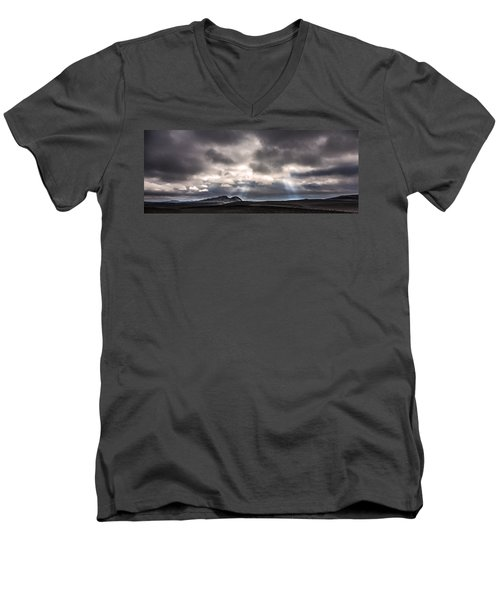Men's V-Neck T-Shirt featuring the photograph Sands Of Time by Gunnar Orn Arnason