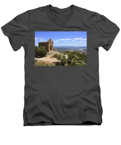 Sant Joan Chapel Spain Men's V-Neck T-Shirt
