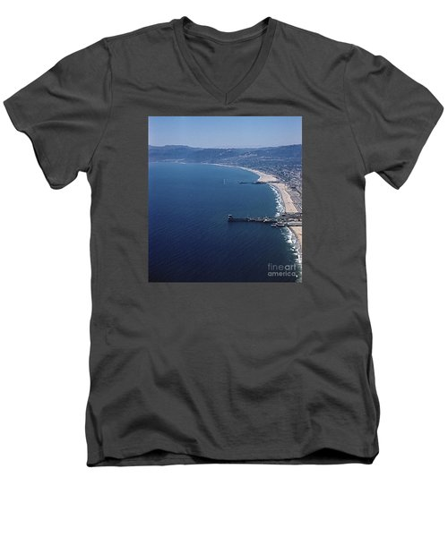 1960 Santa Monica Bay From The Air Men's V-Neck T-Shirt