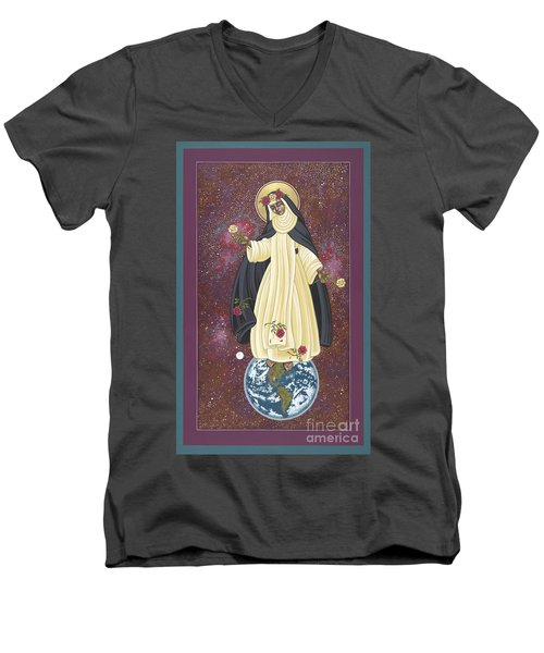 Santa Rosa Patroness Of The Americas 166 Men's V-Neck T-Shirt