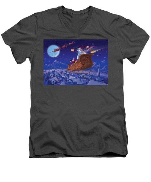 Santa's Helper Men's V-Neck T-Shirt