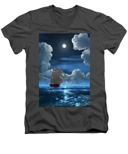 Santisima Trinida In The Moonlight 2 Men's V-Neck T-Shirt