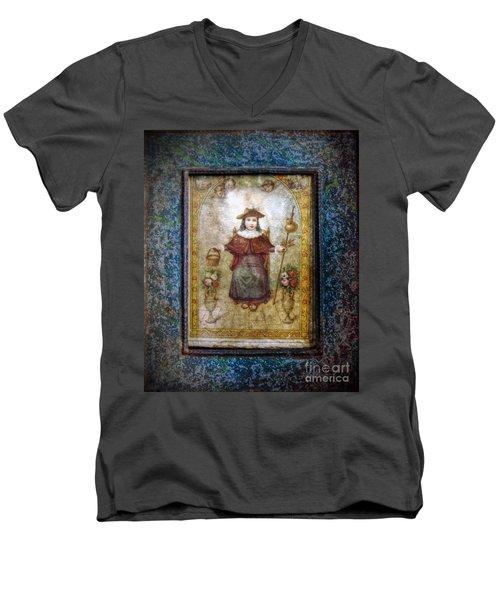 Santo Nino De Atocha Men's V-Neck T-Shirt by Savannah Gibbs