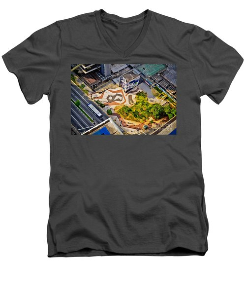 Sao Paulo Downtown - Geometry Of Public Spaces Men's V-Neck T-Shirt
