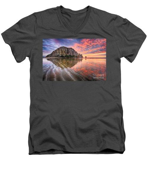 Sapphire Red Men's V-Neck T-Shirt