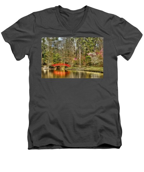 Sarah P. Duke Gardens Men's V-Neck T-Shirt by Benanne Stiens