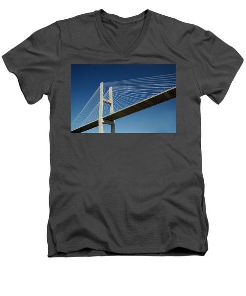 Savannah River Bridge Georgia Usa Men's V-Neck T-Shirt