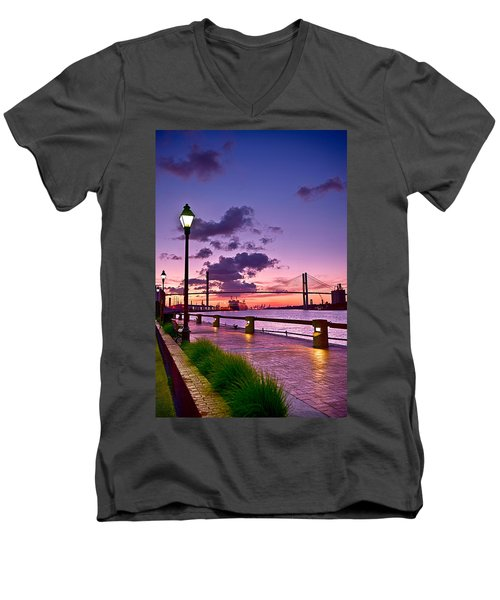Savannah River Bridge Men's V-Neck T-Shirt
