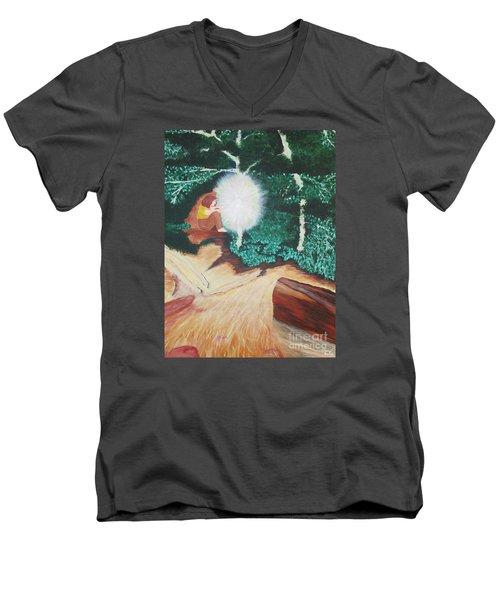 Saying Hello Men's V-Neck T-Shirt