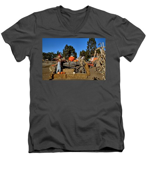 Men's V-Neck T-Shirt featuring the photograph Scare Crow by Michael Gordon