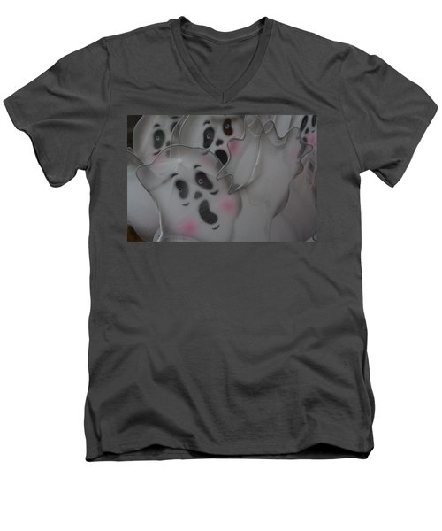 Scary Ghosts Men's V-Neck T-Shirt