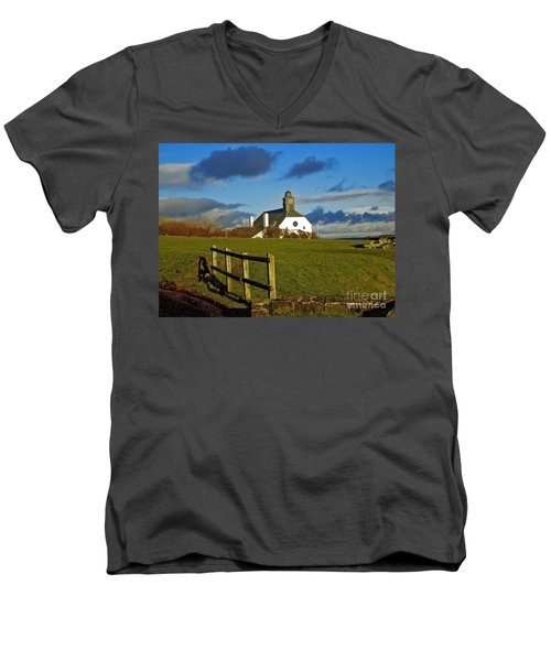 Scene From Giants Causeway Men's V-Neck T-Shirt by Nina Ficur Feenan