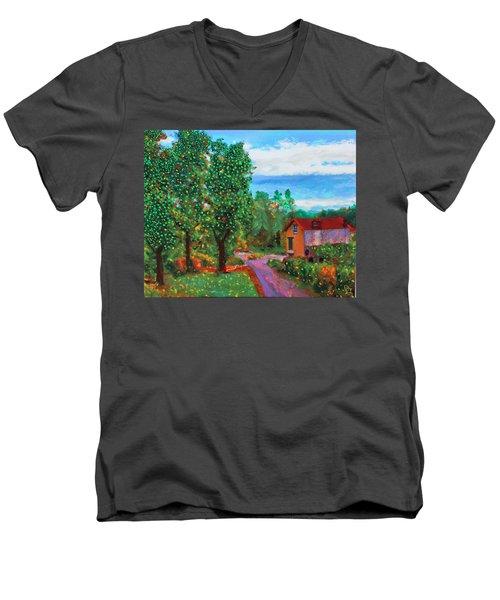 Scene From Giverny Men's V-Neck T-Shirt
