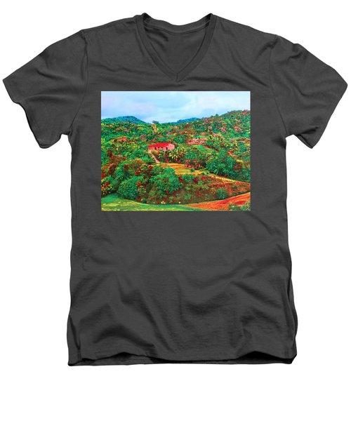 Scene From Mahogony Bay Honduras Men's V-Neck T-Shirt