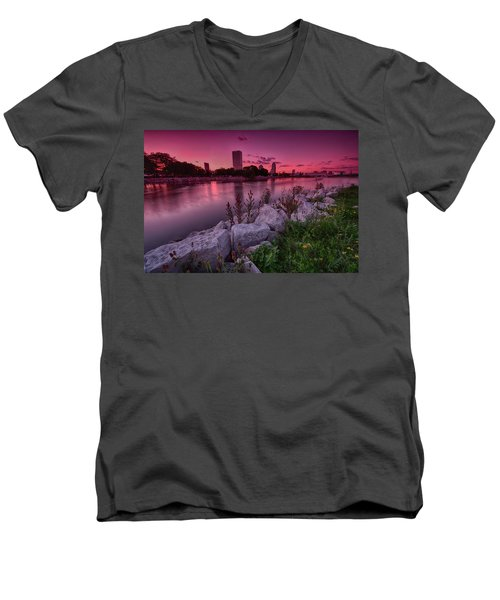 Scenic Sunset Men's V-Neck T-Shirt