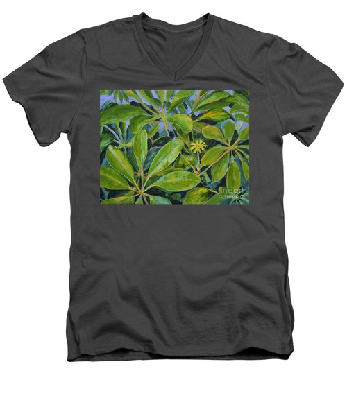 Schefflera-right View Men's V-Neck T-Shirt