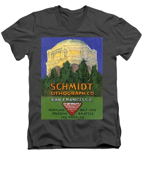 Schmidt Lithograph  Men's V-Neck T-Shirt