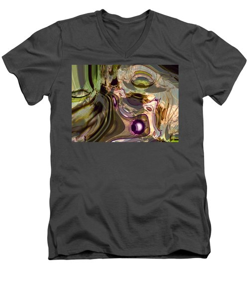 Men's V-Neck T-Shirt featuring the digital art Sci-fi Fury by Richard Thomas