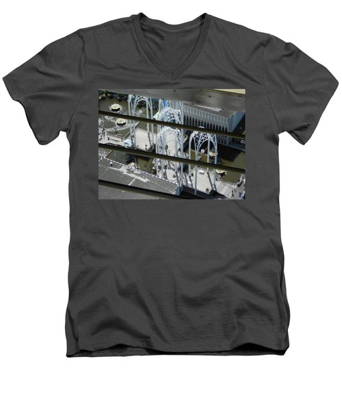Science From The Top Men's V-Neck T-Shirt by David Trotter