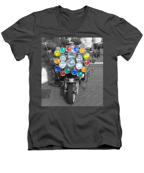 Scooter Spotlights Men's V-Neck T-Shirt