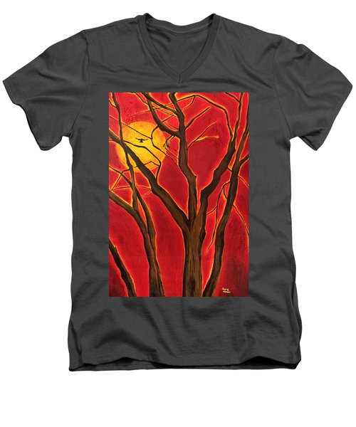 Scorpio Sun By Jaime Haney Men's V-Neck T-Shirt