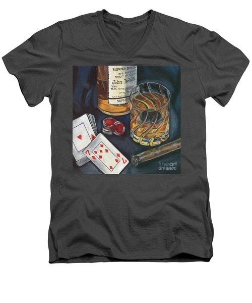 Scotch And Cigars 4 Men's V-Neck T-Shirt