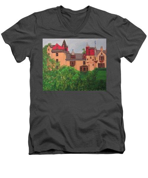 Scottish Castle Men's V-Neck T-Shirt