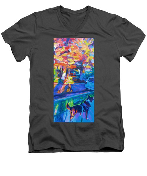 Scout In The Morning Men's V-Neck T-Shirt