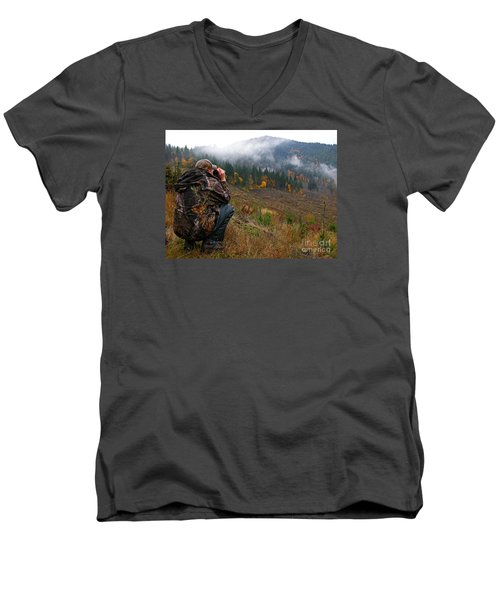 Men's V-Neck T-Shirt featuring the photograph Scouting by Nick  Boren