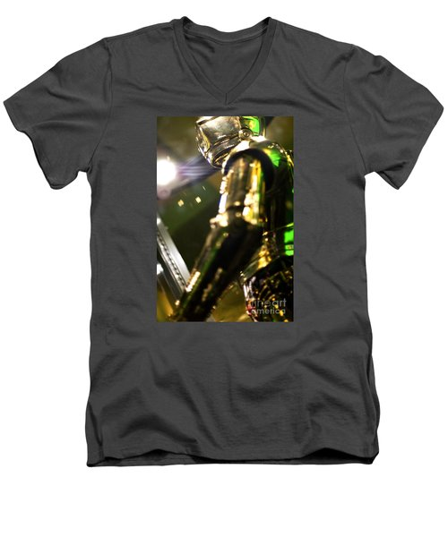Screen Worn C3p0 Costume Men's V-Neck T-Shirt by Micah May