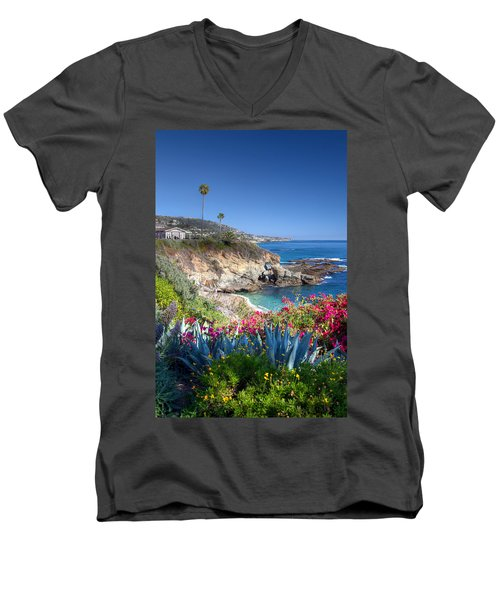 Sea Arch At Montage Resort Men's V-Neck T-Shirt