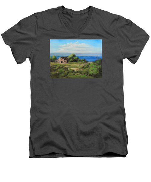 Sea Breeze Men's V-Neck T-Shirt by Remegio Onia