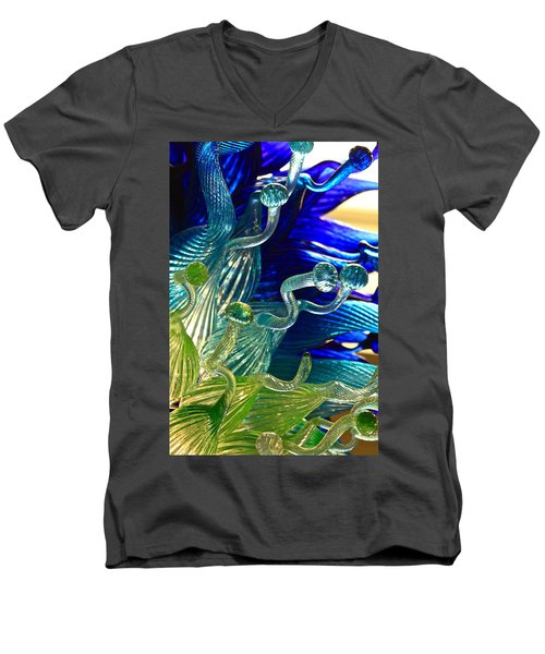 Sea Glass Men's V-Neck T-Shirt by Karon Melillo DeVega
