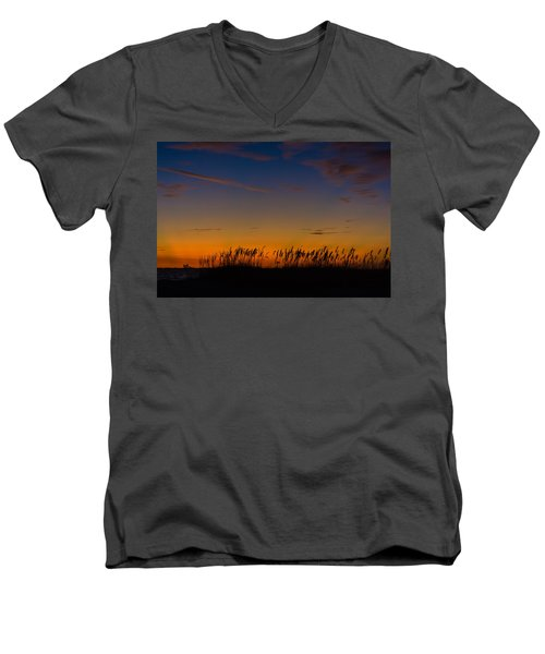 Sea Oats At Twilight Men's V-Neck T-Shirt