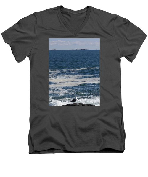 Men's V-Neck T-Shirt featuring the photograph Seabreeze. by Robert Nickologianis