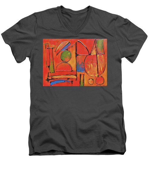 Men's V-Neck T-Shirt featuring the painting Searching For My Soul by Jason Williamson